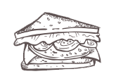 Sandwich sketch from the Lunchbox Market in Knoxville